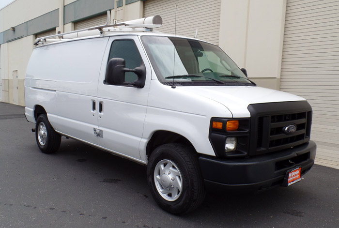 2008 Ford E-350 Cargo Van w/ Rack, Bins/Shelving, Safety Cage & 106K.